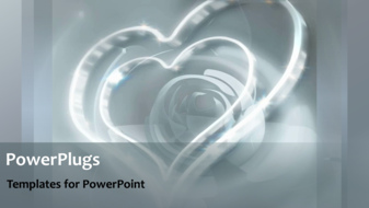 PowerPoint Template - Wedding hearts background